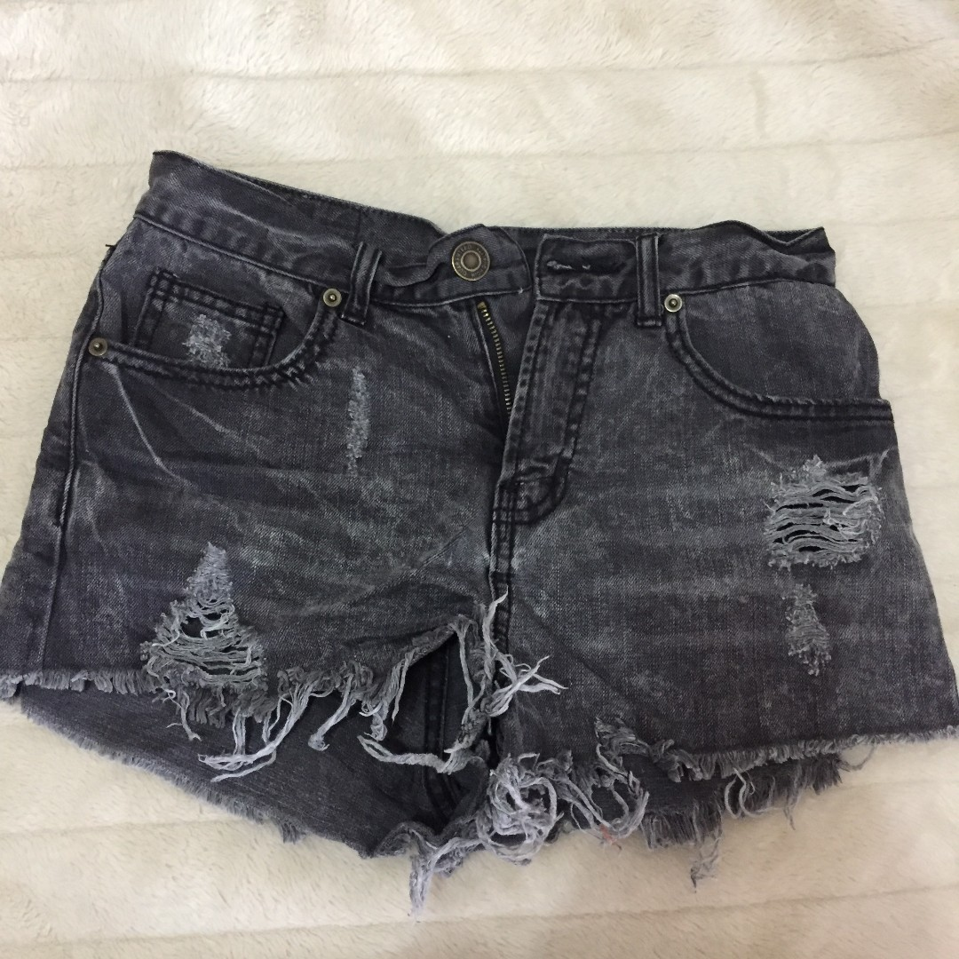 Faded ripped shorts