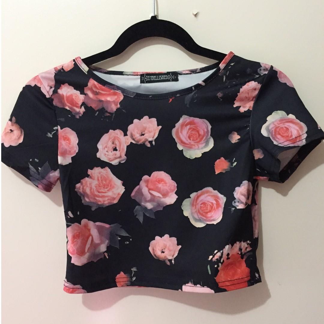 Floral Crop t-shirt crop
