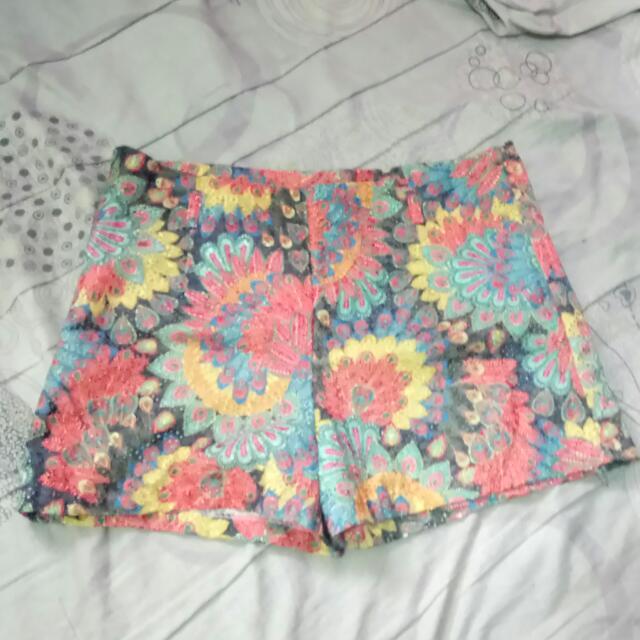 Floral Lace Short