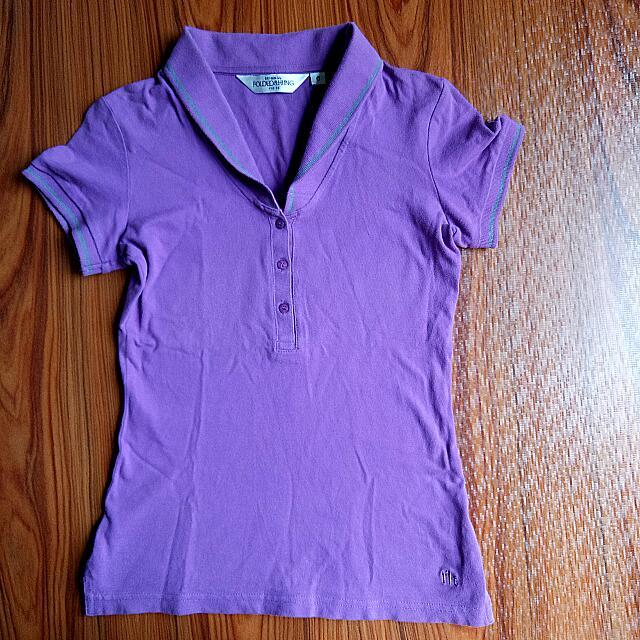 [Folded&Hung]Violet Sailor Polo Shirt
