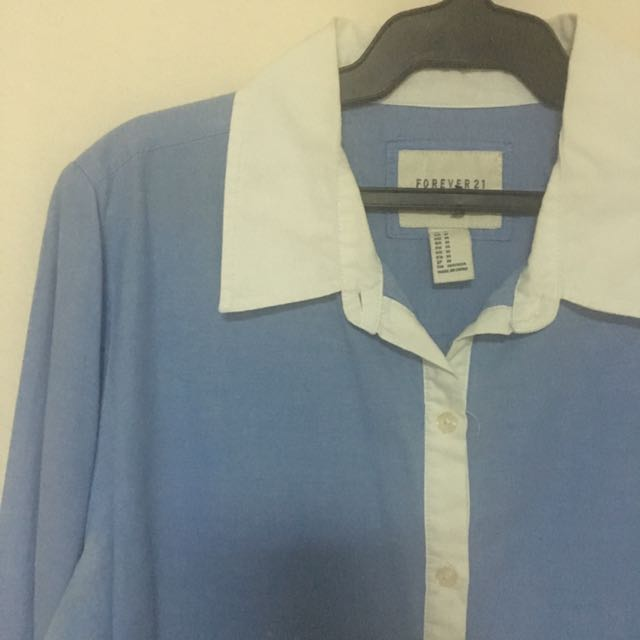 Forever 21 Blue Casual Blouse