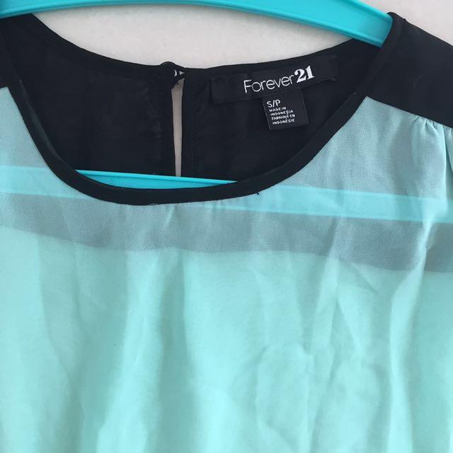 Forever 21 Green Shirt