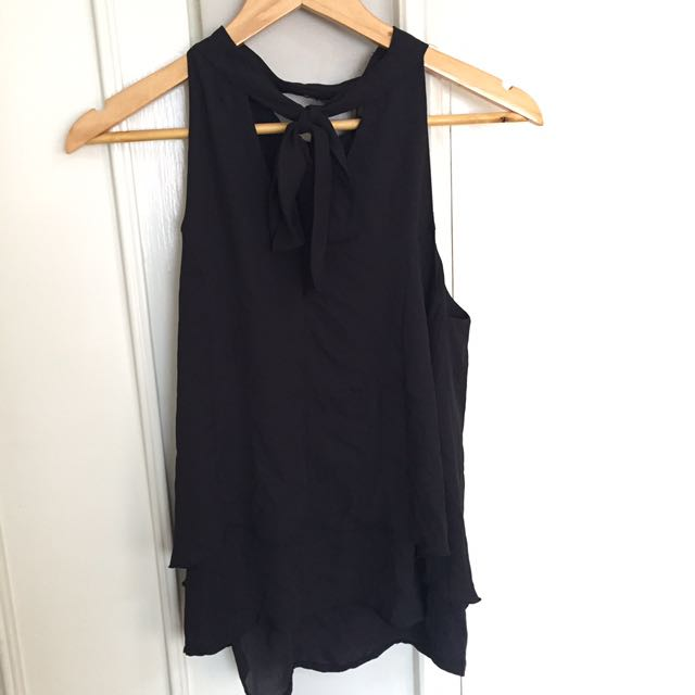 GIAO Black Sleeveless Top