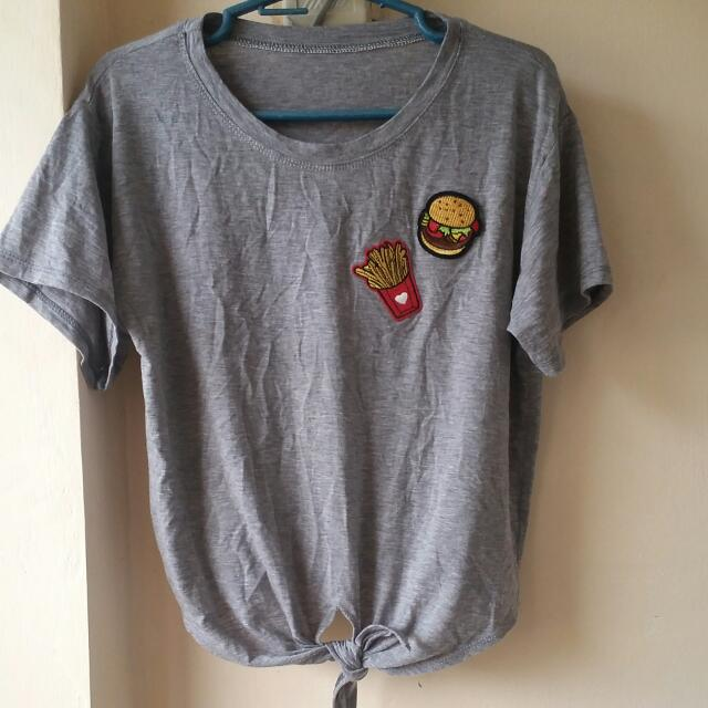 Gray Shirt w/ Patches
