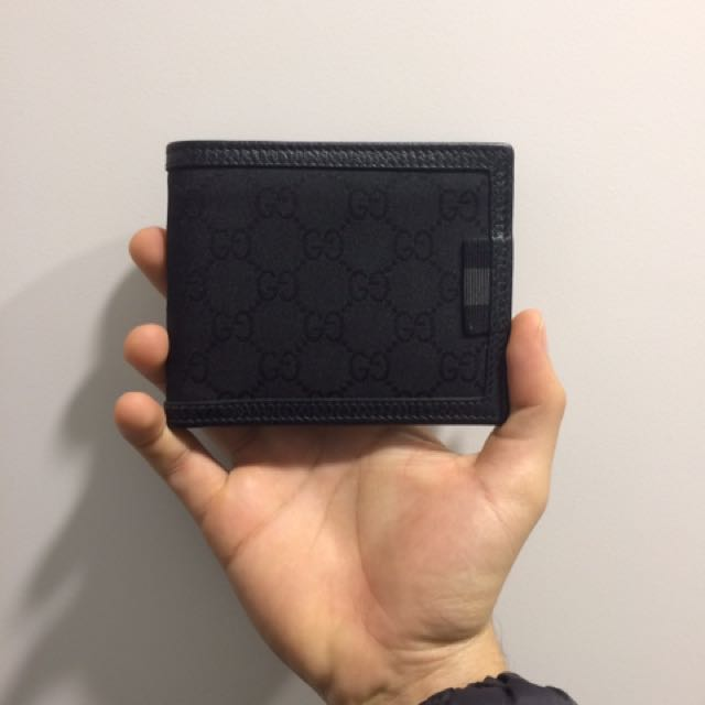 Gucci Men's Black Canvas Wallet