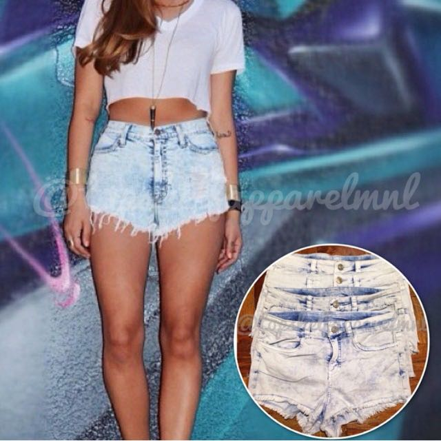 H&M Acid Washed Shorts