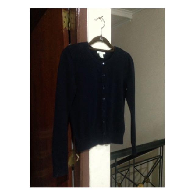 H&M Dark Blue Cardigan