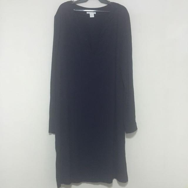 H&M Navy Blue V-neck Dress