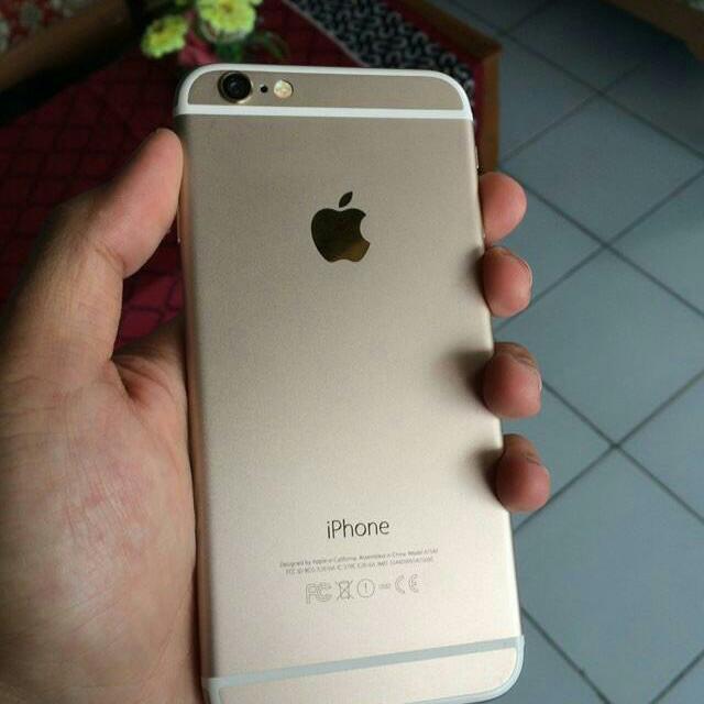 Iphone 6 16gb gold fullset ex inter kondisi 98% mulusssssss