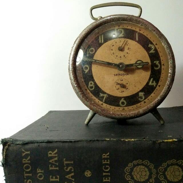 Jam Weker / Alarm Clock Antik 'Seikosha' Vintage