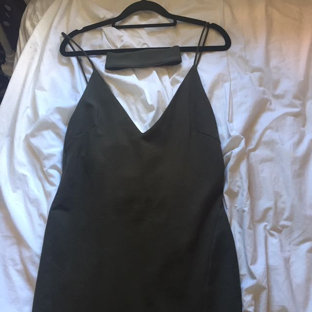 Khaki Party Dress