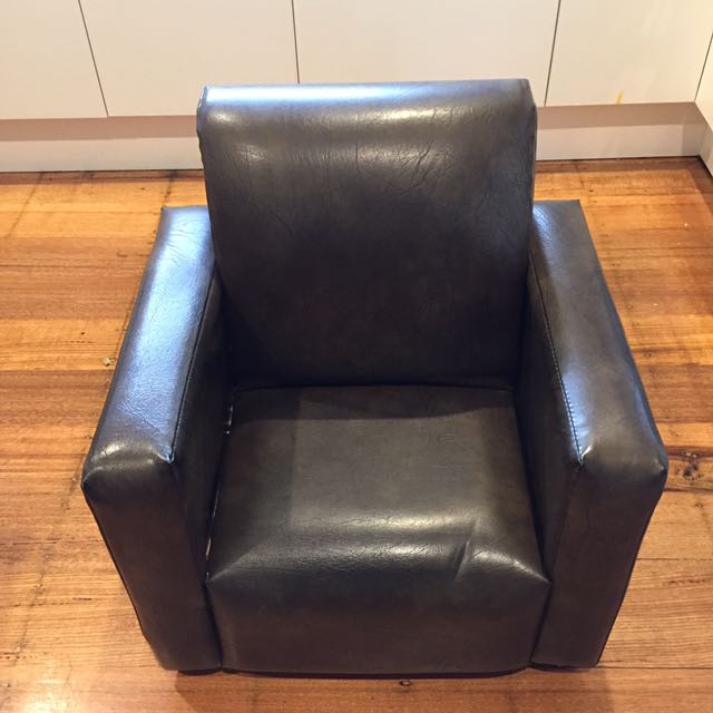 Kids Leather Lounge Chair