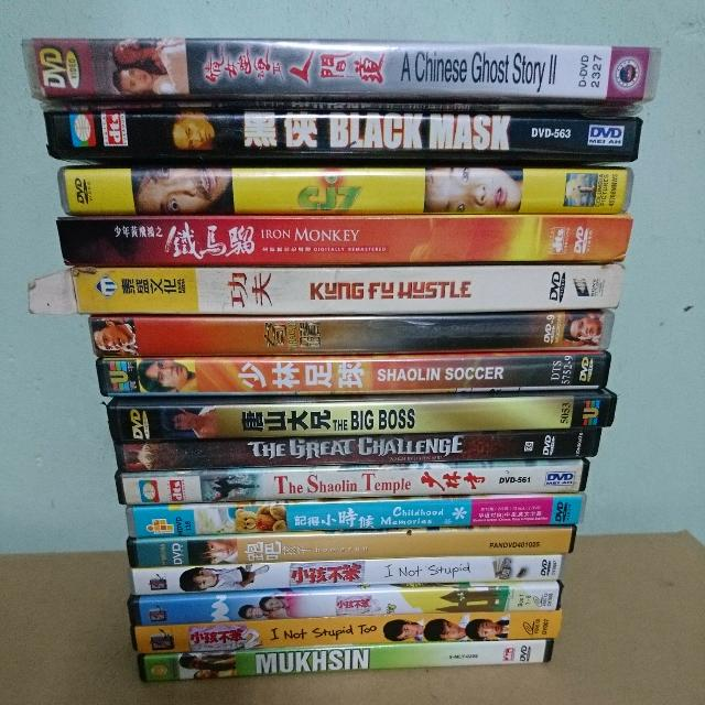 L) Assortments Of Used DVDs / VCDs - Chinese, Malay  , Music