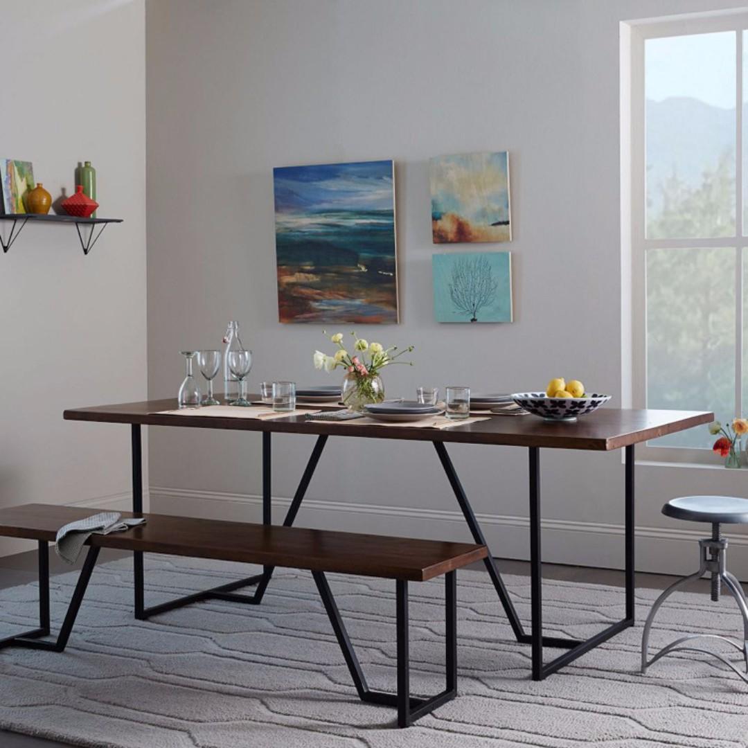 Loft Dining TableBench Slim Furniture Tables Chairs On Carousell - Slim dining table with bench