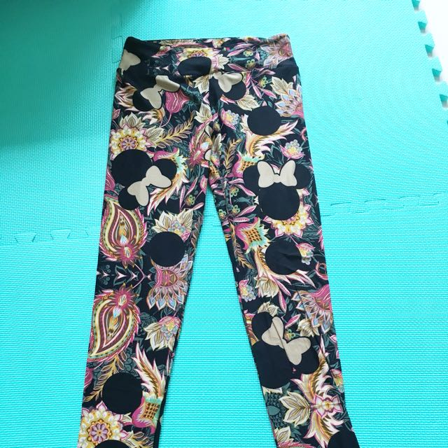 1c279642331c3 Lularoe Disney Leggings OS, HTF Paisley Print, Women's Fashion ...