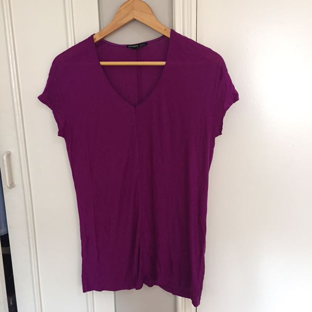 MANGO Purple Blouse