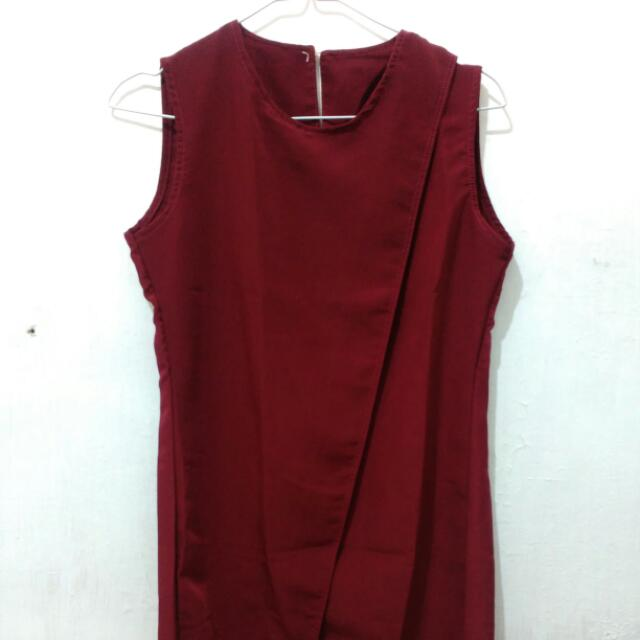 maroon u-can-see Blouse