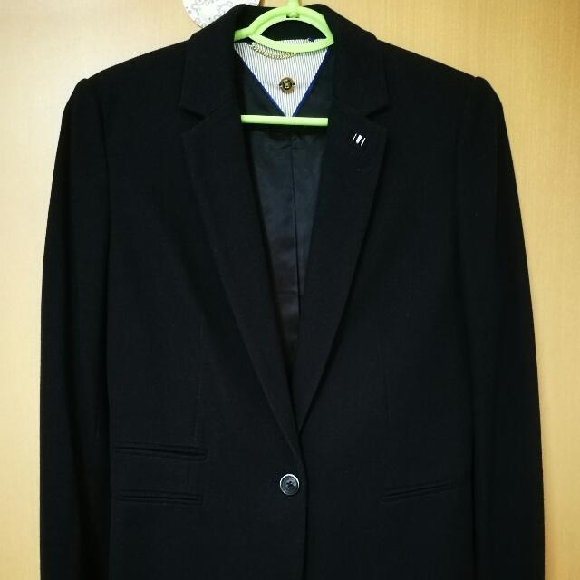 a087434900bed massimo dutti navy blazer