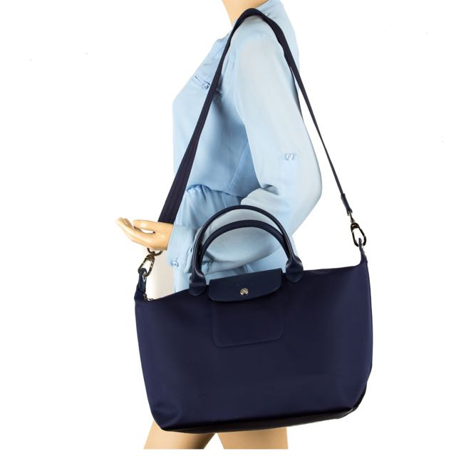 Medium Longchamp Le Pliage Neo Navy Women S Fashion Bags Wallets On Carou