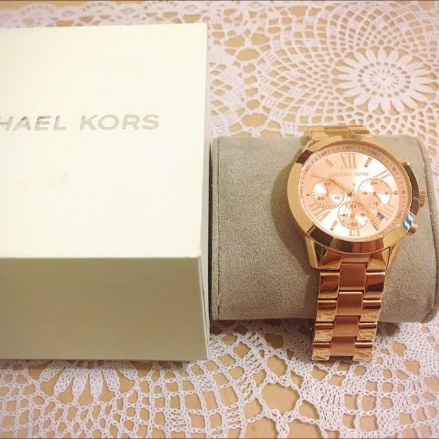 MICHAEL KORS 玫瑰金手錶 時尚配件