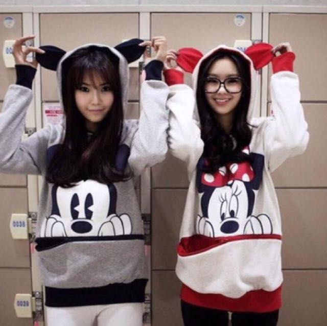Mickey/ Minnie Mouse Hoodie Jacket