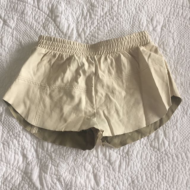 Mink Pink Faux Leather Shorts