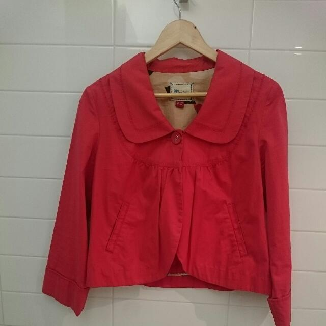 Monsoon Cropped Red Jacket