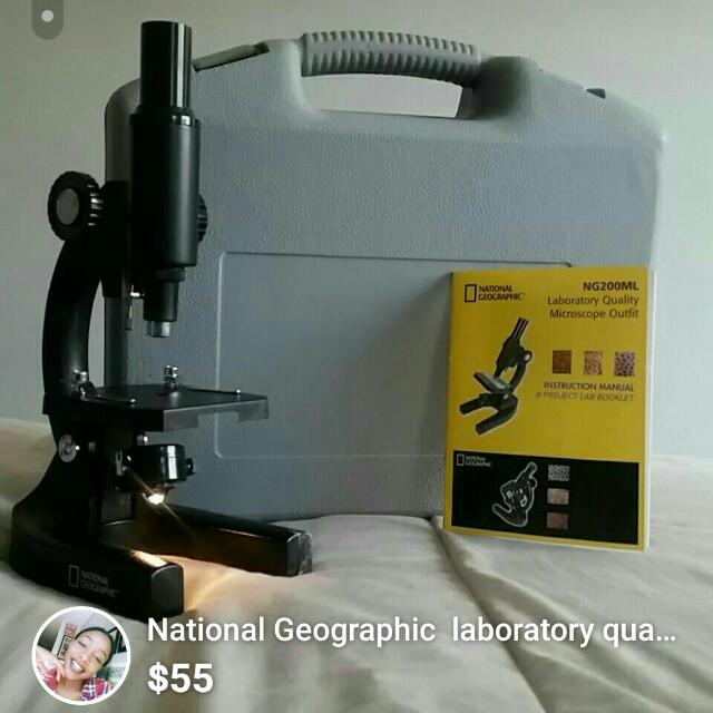 National Geographic  laboratory quality microscope