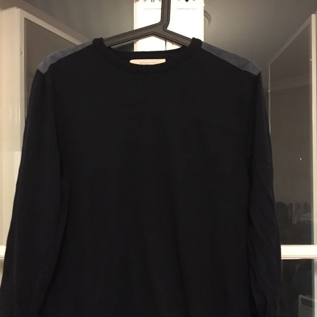 Navy Blue With Blue Shoulder Pass Jumper Size M River Island