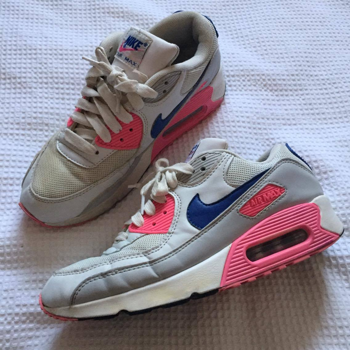 ac18d6d50da8 NIKE AIR MAX 90   PINK PURPLE W 8.5