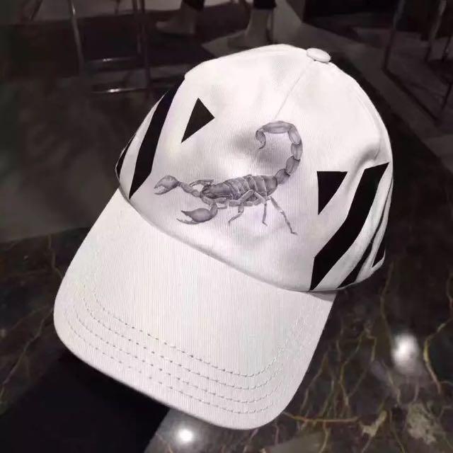 OFF-WHITE正品2017新款棒球帽 鴨舌帽 蠍子條紋