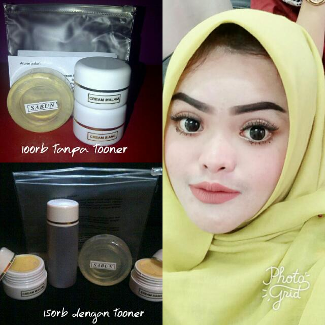 Owner Using Cream Whitening And Glowing Racikan Apoteker Bandung