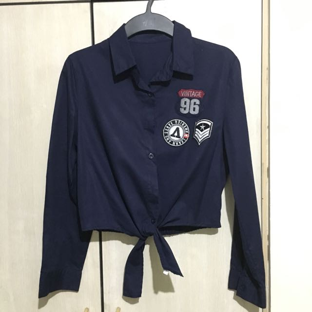 Patch Polo Tie Front