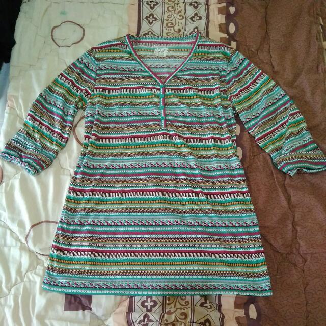 Phenomenal Green Ethnic Overall Shirt