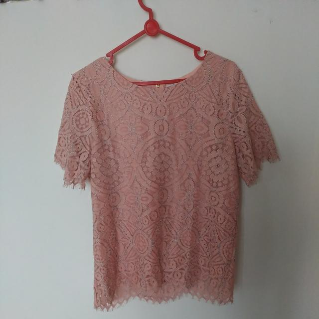 Pink Lace Tee