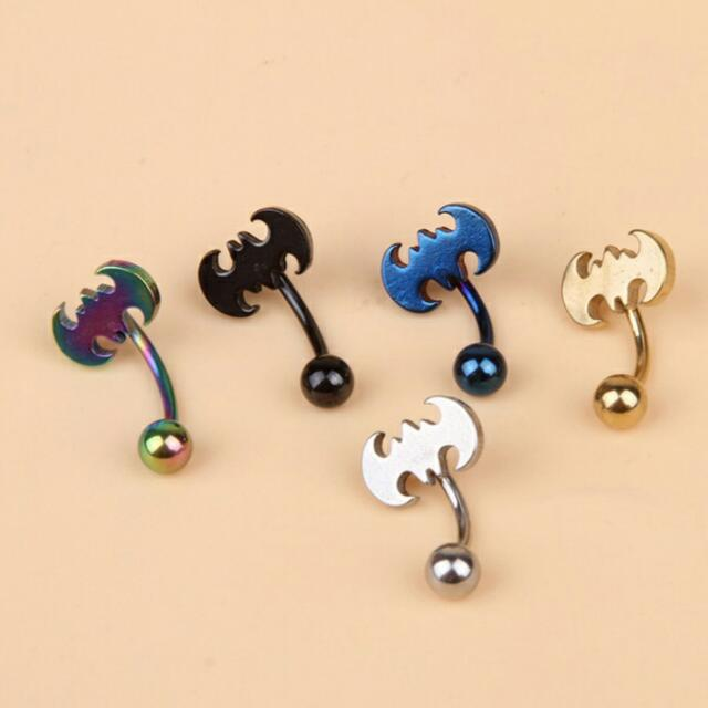 Po Free Shipping Unisex Batman Belly Button Ring