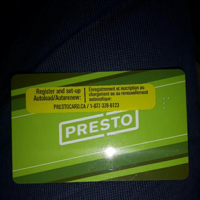 Presto Giftcard 210$ on the card