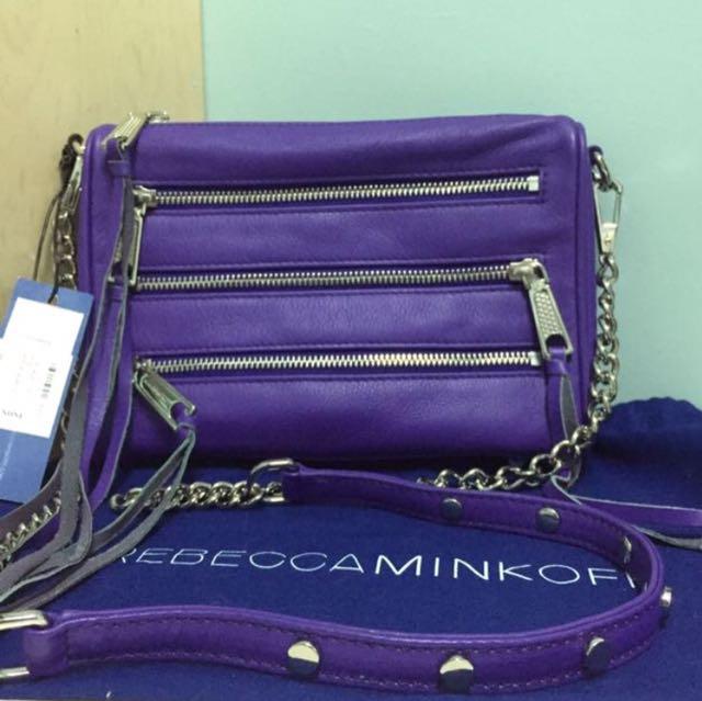 🇺🇸REBECCAMINKOFF 紫色 MINI 5ZIP 拉鍊包保證正品