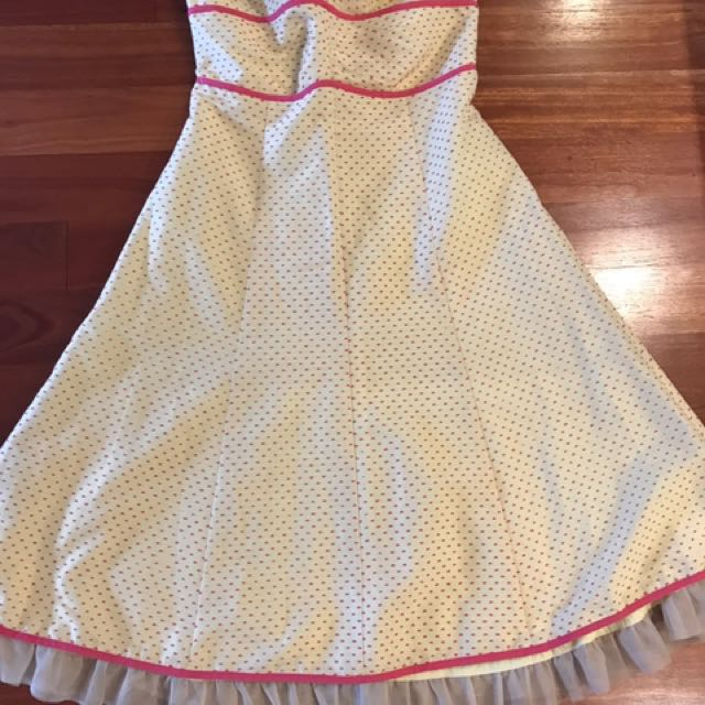 Review Size 10 Polka Dot Dress With Adjustable Strap