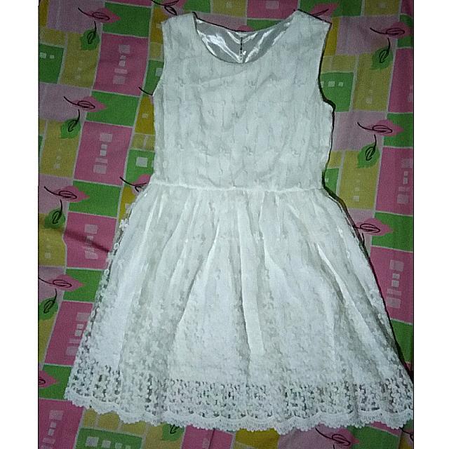 RUSH White Lace Dress