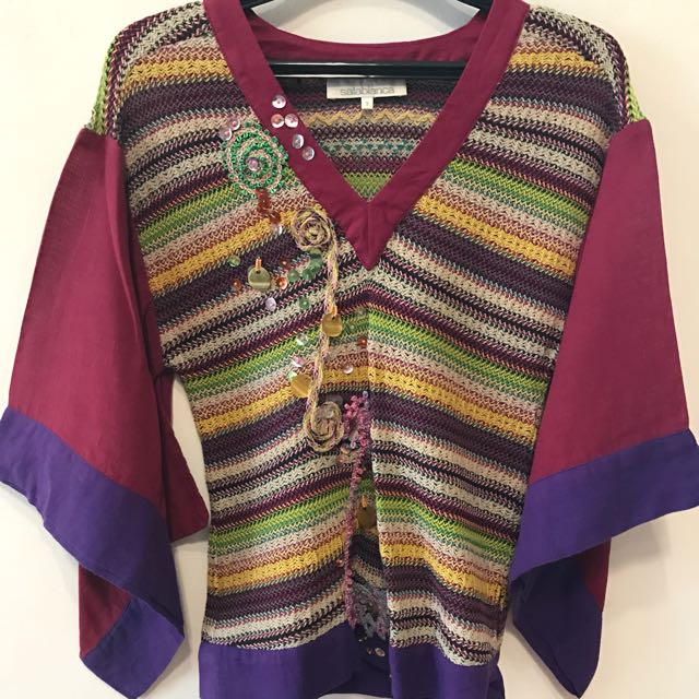 Salabianca Knitted Colorful Top