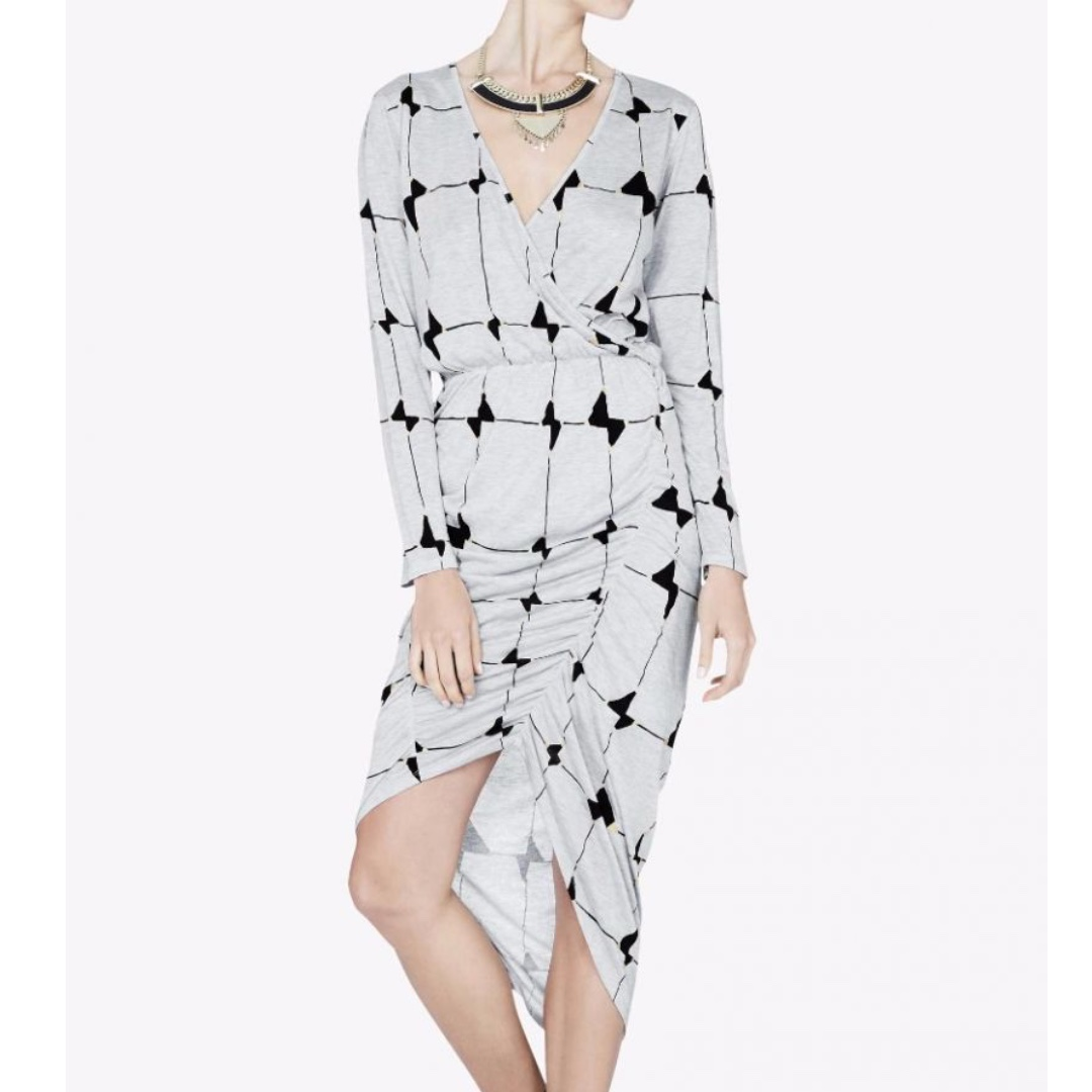Sass & Bide - Depths Of The Sea Dress - Grey/ Print - Size 8 - BNWT RRP $350