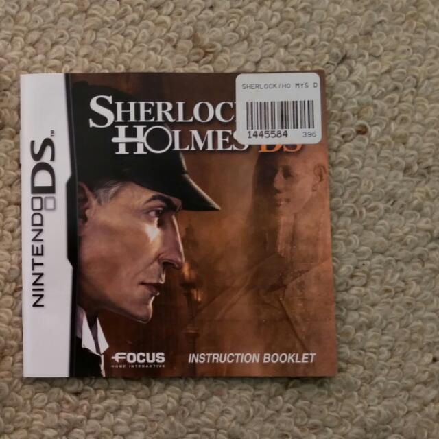 *Reduced* Sherlock Holmes DS Game