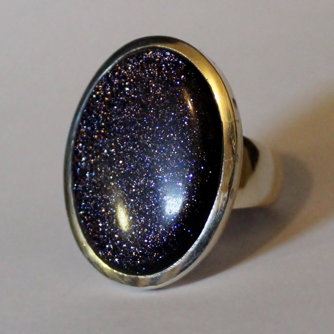 Silver silver and gemstone rings
