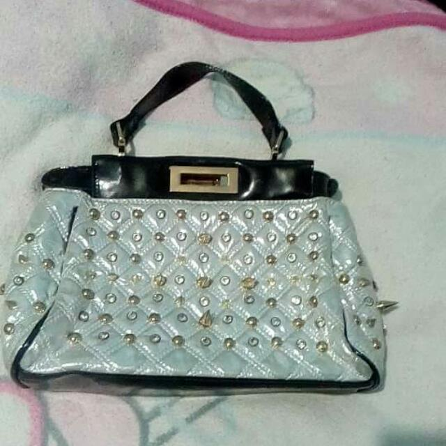 Silver white bag from hk