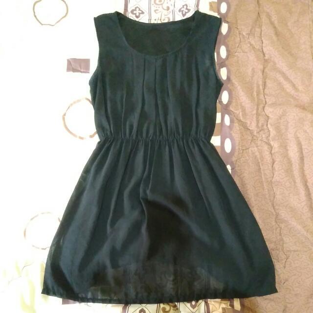 Black Simple Mini Dress