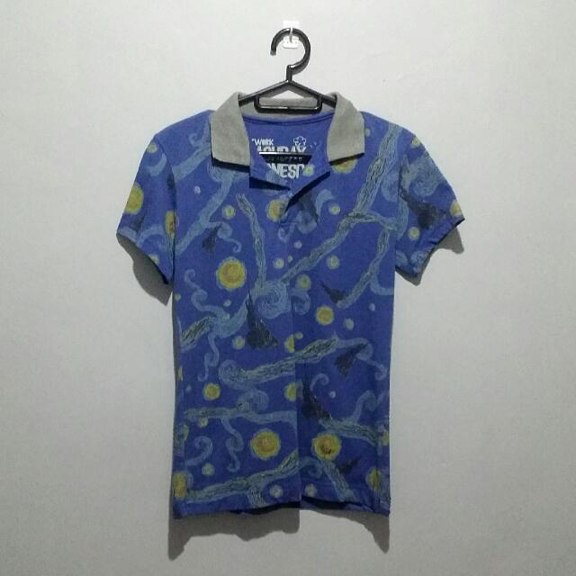 starry night polo shirt