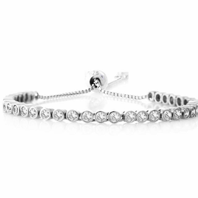 🎁FREE GIFT WITH THIS PURCHASE🎁Sterling Silver Tennis Bracelet : STERLING SILVER