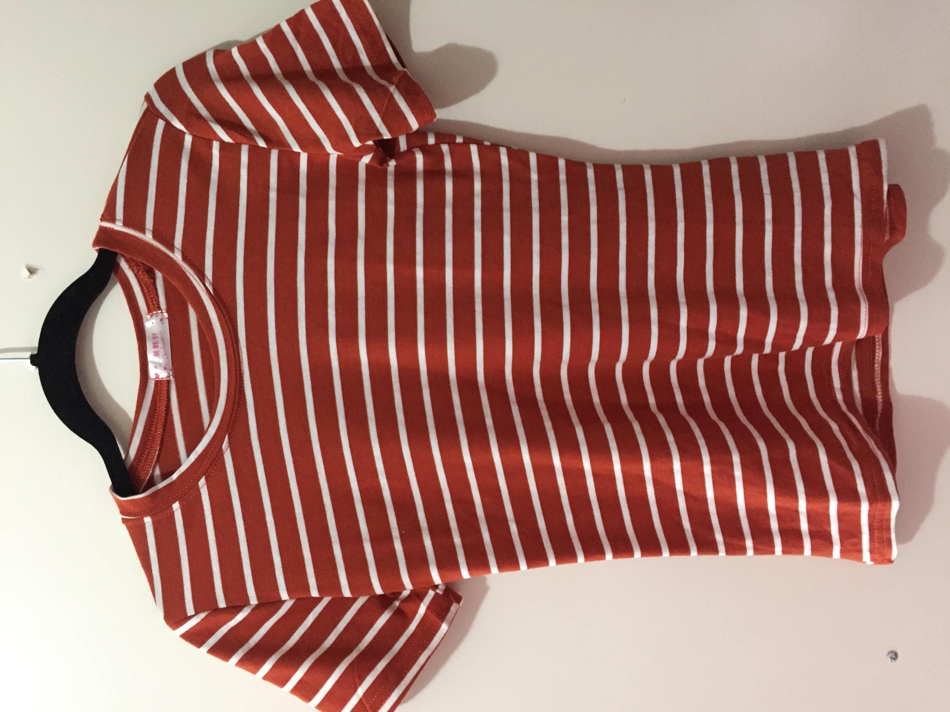 Striped orange t-shirt