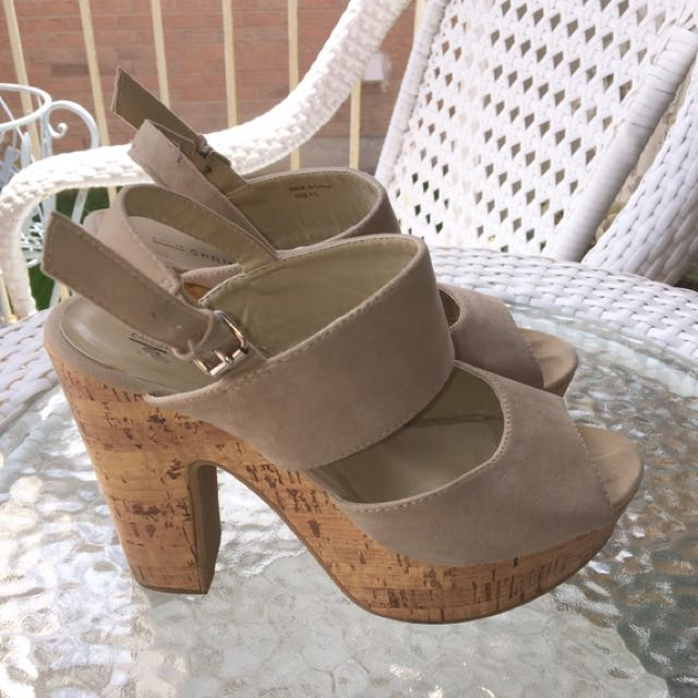 Tan Cork Sandals